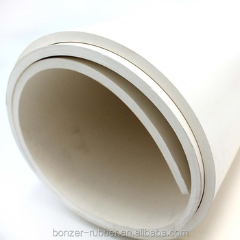 white sanitary food grade rubber sheet