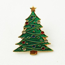 Christmas Gift Decoration Lapel Pin Badge Soft Enamel Colors Pins