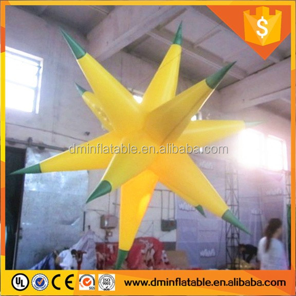 2016 Inflatable hanging stars for music party