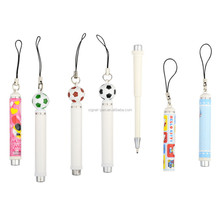 Hot sale novelty promotional advertising retractable mini ballpoint pen with string