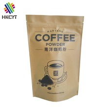 Custom printing plastic food packaging bag aluminum foil coffee bag stand up pouch with zipper