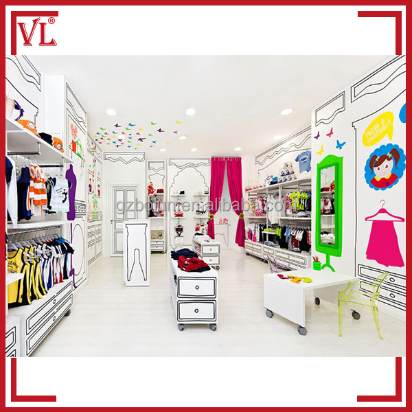 Best price for retail kids garment shop interior design