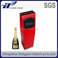 hot sale plastic champagne bottle gift box/ fancy wine packaging box wholesale