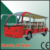 Solar electric vehicle with 14 seats, CE approved