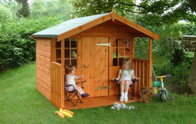 wooden kids playhouse KD design easy assembly garden house
