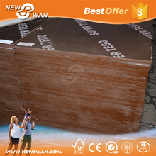 Film Faced Plywood Poplar Core / Hard Wood Shuttering Plywood Price
