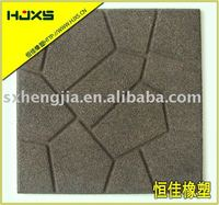 Deck rubber tiles Recycled rubber pavers