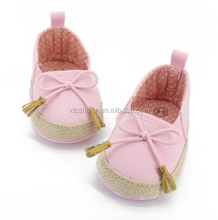 AMOZON EBAY Hot Selling New Kids Baby Girls Soft Soled Bowknot Crib Shoes Toddler Canvas Prewalker 0-18M