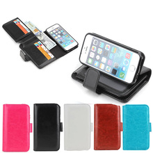 Fashion Case Cover for Apple iPhone 5, Skin Case PU Leather Cover for iphone 5, Foldable Stand for iphone 5/6/6 Plus