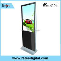 Indoor acrylic ad display, LCD all in one digital signage, floor stand touch kiosk