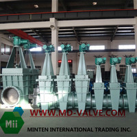 Lining Wedge Gate Valve Knife Gate