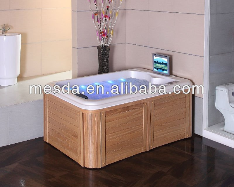 jet with LED light spa;small spa;can add TV DVD player
