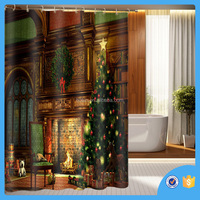 Water repellent Polyester custom Printing Shower Curtains,180x200cm bathroom fancy shower curtains