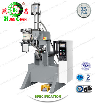 Foot-operated industry cookware riveting machine