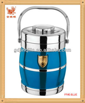 safety material metal colorful reusable steel food container with wholesale price