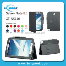 "Wholesale Folio Stand Leather Case For Samsung Galaxy Note N5100 8"" Tablet with Card Slots Handstrap Cover"