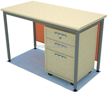 New Design Modern Bright color School Office Standing Writing Desk with MDF Board Mobile Cabinet