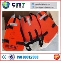 Good price work vest only with several hollow in the back side in marine or ship