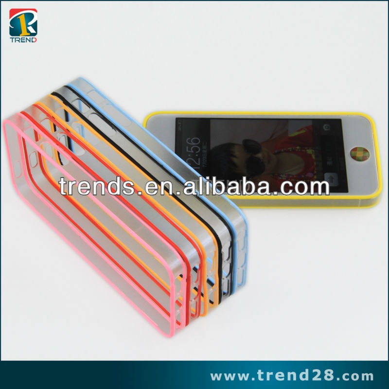 0.3mm thin bumper phone case for iphone5 from guangzhou