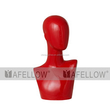 Plastic Female Red Head Mannequin Dispaly Jewelry/ hat /scarf/wig abstract mannequin head H1088