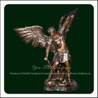 Bronze Michael Arc Male Famous Angel Statue