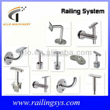stainless steel handrail floor mounted bracket baluster support wall bracket for mirror