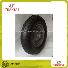 high quality pneumatic / air rubber wheel 3.50-4 steel or plastic rim