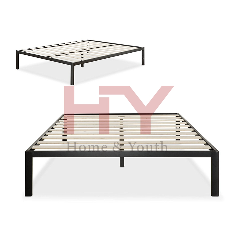 Mattress Foundation no Boxspring needed Wooden Slat Support Modern Studio 14 Inch Platform 1500 Metal Bed Frame
