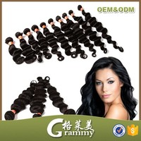 human hair type natural black material curly brazilian hair extension
