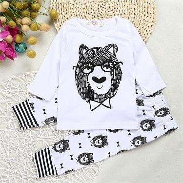Free Shipping 2017 Little Monsters Kid Clothes Bulk Wholesale Clothing Baby Boy Product