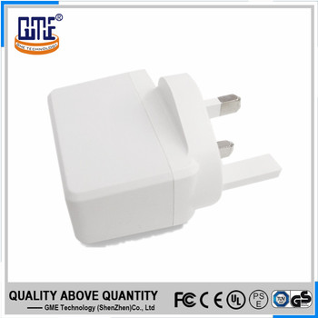 Shenzhen wholesale CE ROHS UK plug-in electrical 5v 1a dc wall phone charger 220v ac