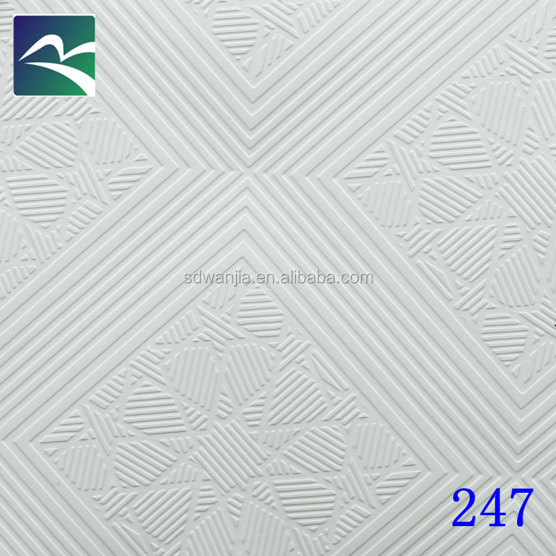 PVC Plaster or gypsum Ceiling Board /paper Facedpvc laminated gypsum ceiling tiles Gypsum Ceiling Tiles
