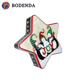 Newest Five Pointed Star Shape Chocolate Tin Box