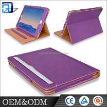 Various color Flip Wallet card holder tablet Case Cover Card pu synthetic Leather Stand for ipad air 2