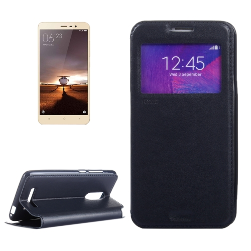 Crazy Horse Texture Horizontal Flip Leather Phone Case for Xiaomi Redmi Note 3