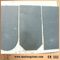 Chinese Black Slate Roofing Tiles, Natural Black Slate Roofing Tiles