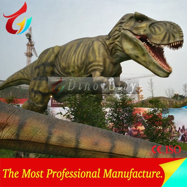 High Animatronic Mechanical T-Rex Dinosaur Of Amusement Park Equipment