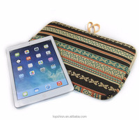 Vintage Style Fabric Cloth Protective Cover Case For iPad Sleeve Case Bag, China Supplier