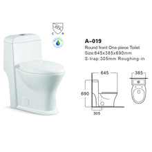 A-019 Best sell excess eddy one-piece toilet S-trap chaozhou china portable toilet