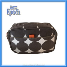 Brown dots versatile and handy travel case cosmetic bag