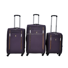 Quality Soft luggage Oxford Nylon Suitcase purple luggage sets 3 piece trolley