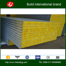 Steel structure building Fire resistace insulation board Glass wool sandwich panel