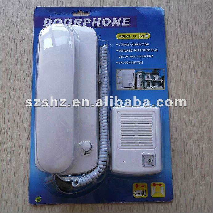 Handset audio intercom . clear doorbell ring