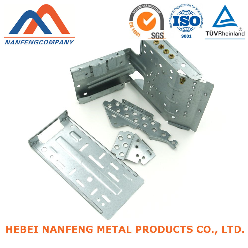 Zinc Steel Spare Parts High Precise Pressing Bended Evaporator Zincing Steel Spare Parts