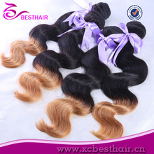 factory price high quality new products for 2014 cheap 100% virgin brazilian two-tone color hair catalog