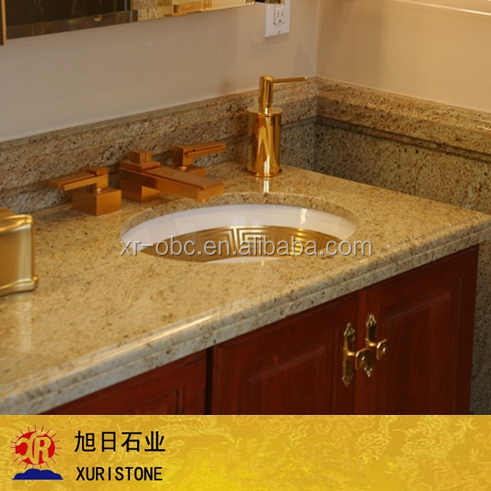 Indian kashmir gold granite, gold granite slabs from india, prefab kitchen countertop