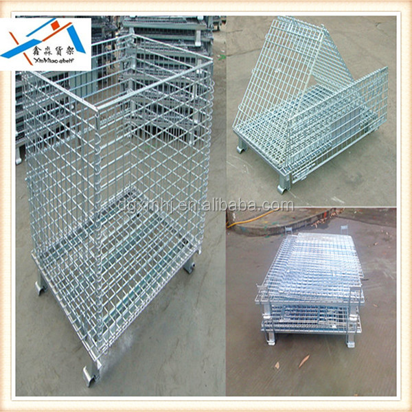 Warehouse Stack Folding Heavy Duty Collapsible Storage Cage