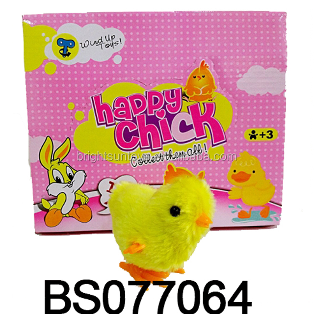 HOT SALES PLASTIC TOYS & 12PCS WIND UP PLUSH CHICK & HAPPY CHICK BS077064