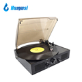3 Speed Radio Real Turntable Vinyl Record Player With Built In Speakers
