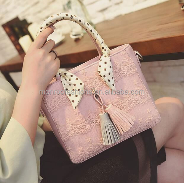 monroo korean fashion lace tassel bags simple trendy shoulder tote bag for sweet girl
